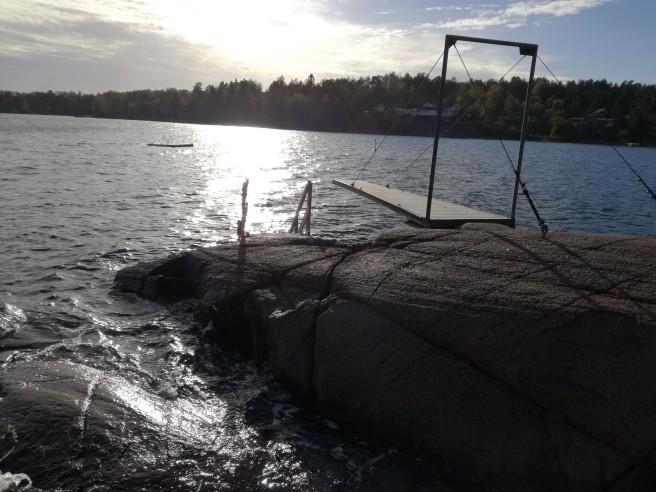 Fotos des Strands auf Husøy.